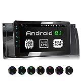 XOMAX XM-39BA Autoradio mit Android 8.1 passend für BMW E39 5er M5, E53 X5, 8Core, 2GB RAM, 32GB ROM, GPS Navigation I Support: WiFi, 3G, 4G, DAB+, OBD2 I Bluetooth, 8 Zoll / 20,3 cm Touchscreen, USB