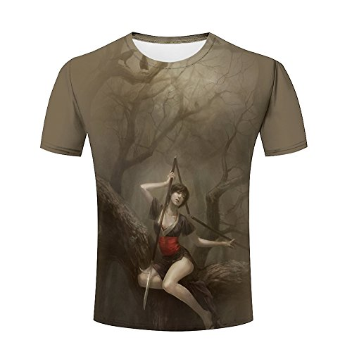 3d Printed Mens Creative Comics/Portrait/Handsome Beauty Summer Casual Short Sleeve Tops T Shirts S