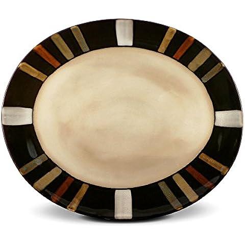 Pfaltzgraff Everyday Tahoe Oval Serving Platter, 14-Inch by Pfaltzgraff
