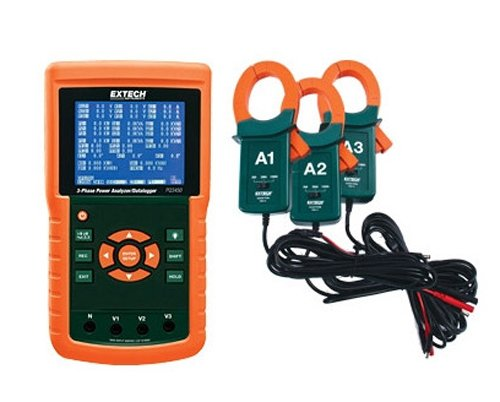 Extech PQ3450-12 1200 A 3-Phasen-Power Analyzer und Datenlogger Kit -