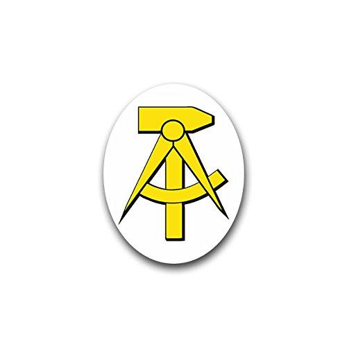 (Aufkleber / Sticker - DDR Partei Abzeichen Hammer Zirkel Deutschland Demokratie Republik Mitteleuropa 5x7cm #A1414)