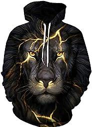 Colorful lion Hoodies For Women Men fashion Streetwear Clothing Hooded Sweatshirt 3d Print Hoody casual Pullov