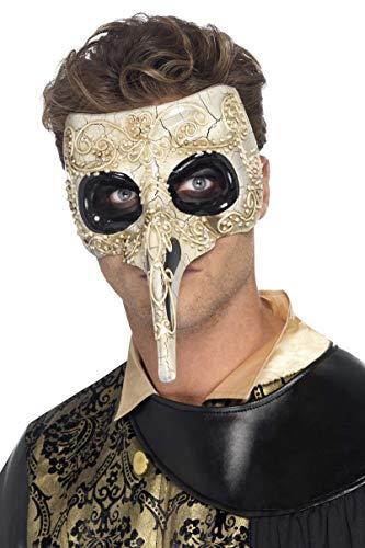 Smiffys smiffy's costume medico della peste veneziano per adulti, beige, taglia unica, 45224