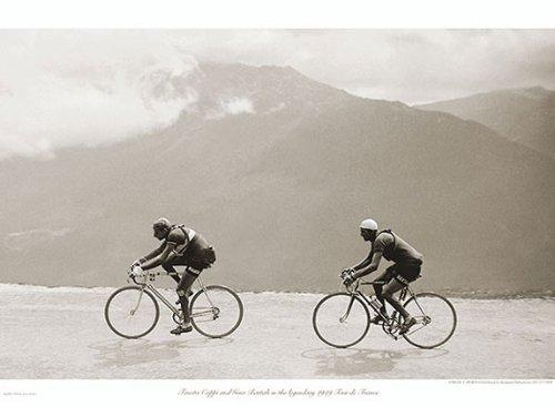Sport Vintage Poster (Coppi Bartali, 1949 Presse E Sports Vintage Cycling Tour de France Print Poster 76.2x55.9 by Picture Peddler)