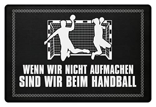 shirt-o-magic Handballfan: .sind wir beim Handball - Fußmatte -60x40cm-Schwarz