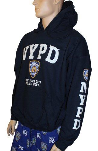 Kapuzenpullover, Design: NYPD, Dunkelblau mit weißem Aufdruck Gr. Medium, navy (Pullover Nypd)