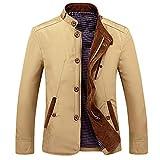 Luckycat Herren Winter Langarm Tasche Stehkragen Zip Outwear Jacke Mantel Plus Größe Mode 2018