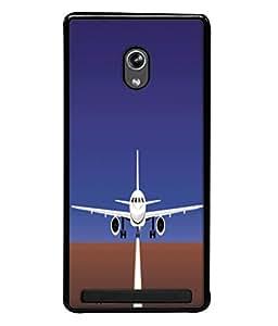 Fuson Designer Back Case Cover for Asus Zenfone 6 A600CG (Airport Runway Fighter Jet )