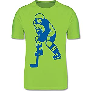 Sport Kind – Eishockeyspieler blau – atmungsaktives Laufshirt/Funktionsshirt für Mädchen und Jungen