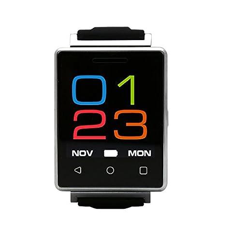 Wasserdicht Smartwatch Intelligente Handy Uhr mit Pulsmesser/ Herzfrequenzmesser/ Remote-Kamera/ Touch Screen/ Unterstützung erweitert Speicherkarte und SIM-Karte 128G, Fitness Smart Watch Für IOS und