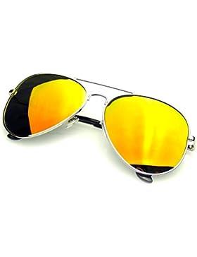 Emblem Eyewear - Espejo Completo Flash Polarizados Gafas De Sol De Aviador