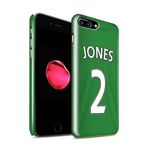 Offiziell Sunderland AFC Hülle / Glanz Snap-On Case für Apple iPhone 7 Plus / Kirchhoff Muster / SAFC Trikot Away 15/16 Kollektion Jones