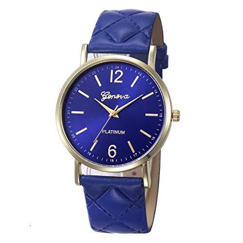WZFCSAE Uhren Mujer Frauen Uhren Mode Uhr Casual Genf Römischen Leder Band Analog Quarz Damen Handgelenk Uhren für Frauen