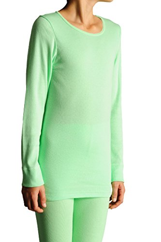 THIEME Kinder Langarmhemd, Unisex, 5045 Farbe apfelgrün Gr. 92