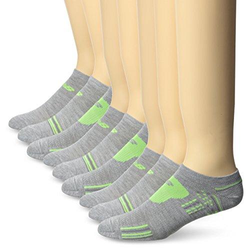 New Balance Damen Core Performance No Show Socken (6Stück), Damen herren, Assorted 2, Medium - Drei Walking-socken