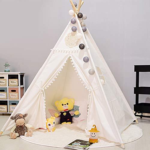 Zelt Für Kinder Zelt Spiel Zelt Indian Shack Kinderzelt Spiel 100% Baumwolle Leinwand Prinzessin Mädchen Zelt Indoor und Outdoor Weiß