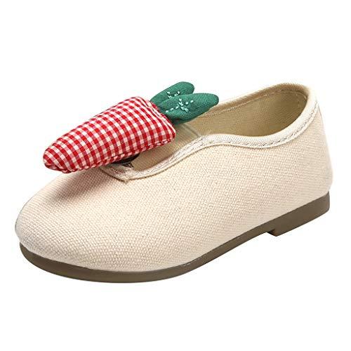 Süß Schuhe für Kleinkind/Dorical Kinder Canvas Slip on Schuhe,Baby Kleinkind Outdoor Lauflernschuhe,Kinder Sandalen Casual Party Schuhe,Weicher Atmungsaktiv Hallenschuhe(Weiß,28 EU)