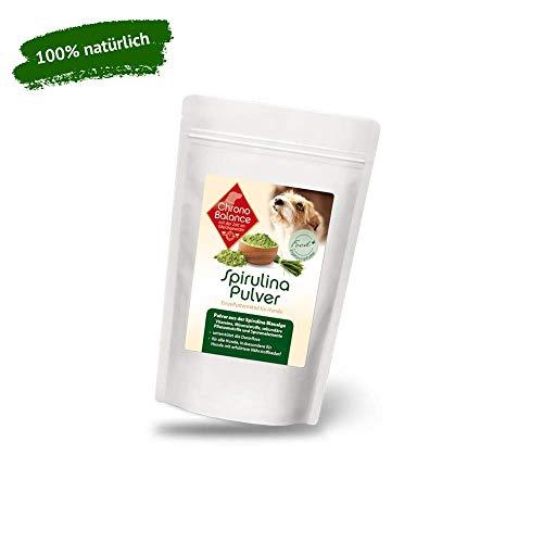 ChronoBalance® 100g Spirulinapulver für Hunde - reich an Vitaminen, Mineralstoffen, Spurelementen - 100% rein natürlich aus der Mikroalge - ideal als Barf-Zusatz