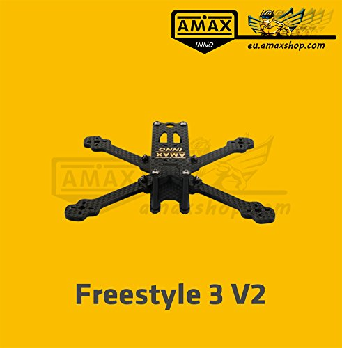 AMAXinno Freestyle3 V2 (130mm) FPV Racing Carbon Frame Quadrocopter Drohne Rahmen