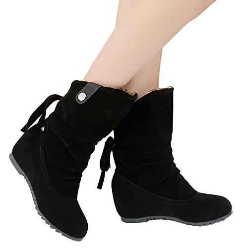 pretty nice 0380f 1568a Stiefel Damen Boots Halten Warme Winterschuhe Frauen Wildleder Runde Zehe  Schuhe Booties.