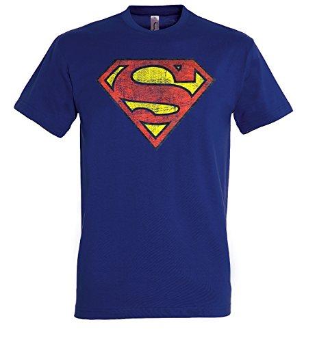 TRVPPY Herren T-Shirt Modell Vintage Superman, Navyblau, 3XL (Marvel-comic-tank)