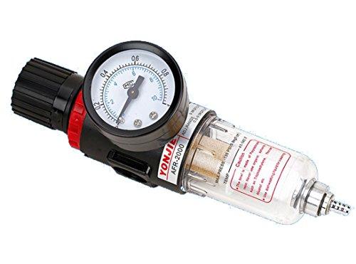 Regulador de presión neumático del aire, separador de agua, reductor de presión para compresor, de 6,35 mm, procesador de gas