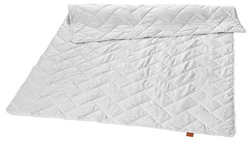 sleepling Nature 100% Baumwolldecke und Baumwollfüllung Steppdecke Leichtsteppbett 135 x 200 cm, weiß