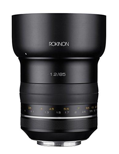 Rokinon speciale performance (SP) 85mm f/1.2ad alta velocità per obiettivo Canon EF con chip AE integrato, nero