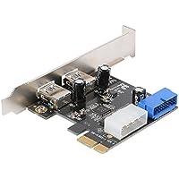 XCSOURCE USB 3.0 Carte contrôleur PCI Express 2 ports avec Interface USB 3.0 Double Ports 20-pin connecteur frontal Pour Windows XP / Vista / 7 / 8 / 10 AC328