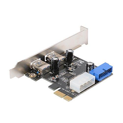 XCSOURCE® Desktop PCI-E a USB 3.0 Tarjeta de Expansión con Interfaz USB 3.0 Dos Puertos Conector Frontal de 20 Pines Para Windows XP / Vista / 7/8/10 AC328