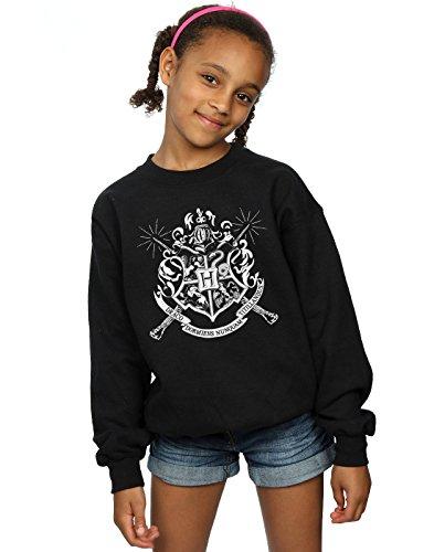 Harry Potter Girls Hogwarts Badge Wands Sweatshirt