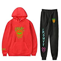 Kouvr Annon 2D Gedrukt Sweatshirt Net Rode Hype Huis Meisje Logo Suits Hoodies+Jogger Broek Sport Stijlvolle Pak Sport Cool Recreatieve Mode