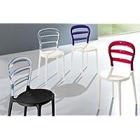 Sedie Plastica Trasparente Colorate.Amazon It Sedia Trasparente 4 Arredamento Casa E Cucina