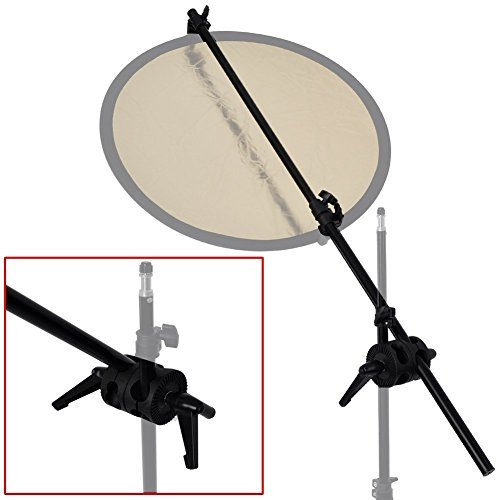 BA01D Doule Klemme Reflektorpanel Kulisse Auslegerarm-Halter mit Griff Swivel Wireless Flash Trigger Kit