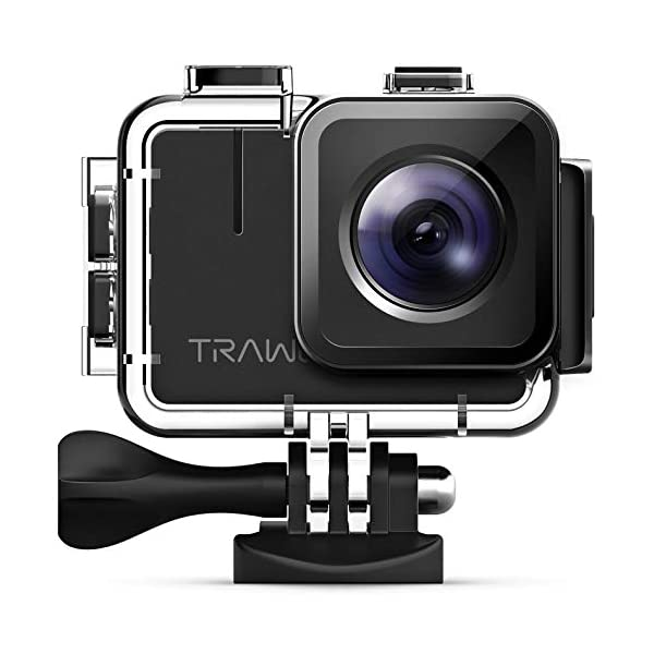 APEMAN TRAWO Action Camera 4K 20MP Wifi Camera IPS HD Screen Underwater 40M with EIS 170 °Wide-angle/2 1350mAh Batteries/Waterproof Case and 20+ Accessory Kits 41M9cjB 2BYSL