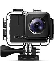 Apeman Trawo Action Camera 4K WiFi Ultra HD 20MP Waterproof 40m Underwater Camera with 170Degree Ultra Wide Angle SONY Sensor Ice Stabilising Dual 1350mAh Batteries