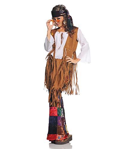 Horror-Shop Mehrteiliges Hippie Woodstock Damenkostüm für Fasching - 60 S Ära Kostüm