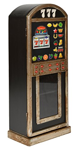 ts-ideen Retrolook CD DVD Schrank Regal Aufbewahrung Retro Design Spielautomat in schwarz 74 x 30 cm
