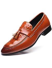Calzado de Negocios para Hombres Calzado de Cuero Suave para la Primavera y el otoño para