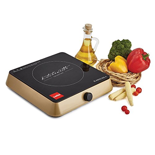 Cello Blazing Blaze-600a 1600-watt Induction Cooktop (black And Gold)