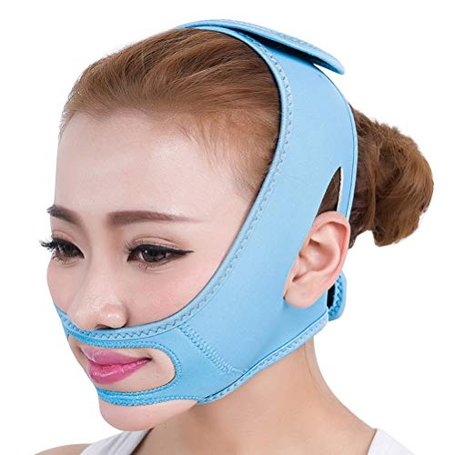 Healifty Masque du Visage Lifting Masque Facial Amincissant Levage Menton Non-Chirurgical Ceinture Elastique du Visage Anti-Rides Bleu