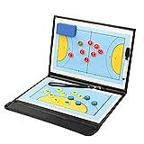 TTGY Handball Tactique Conseil Résistant à l'usure en Cuir Artificiel Athlète Pliable Portable Concours Formation Réinscriptible Black