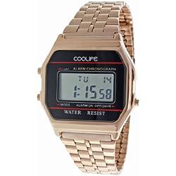 Coolife Unisex-Armbanduhr Retro Style Watches Digital Quarz Metall CL2013G922