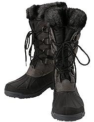 Covalliero Montreal thermo-outdoor botas–negro/gris, tamaño 39