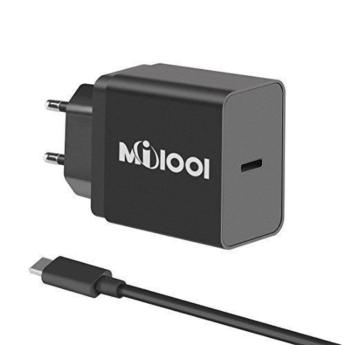 Cargador USB Tipo-C Cargador Portátil USB C de Pared Type C Compartibles Dispositivos con Tipo-c (Con un Cable USB C)(Negro)