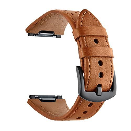 APJJ Lederband Armband Handschlaufe Einfach Zu Entfernen Uhr Oberste Schicht Lederband,Brown