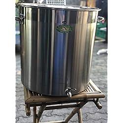 Générique Faitout Marmite avec Robinet 50 litres INOX Grande capacité Ideal Brassage Biere