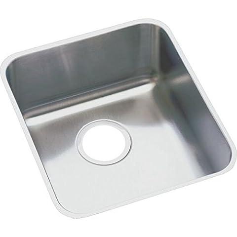 Elkay ELUH1116DBG 18 Gauge Stainless Steel 14 x 18.5 x 7.875 Single Bowl Undermount Kitchen Sink Kit by Elkay
