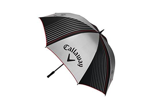Callaway Golf 2017UV 162,6cm Single Canopy Parapluie protection UV léger, Argenté/noir/rouge, taille unique