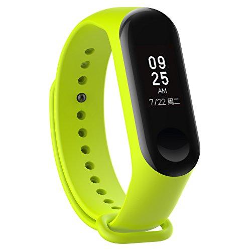 XIHAMA - Correa de Silicona Suave de Repuesto para Reloj Deportivo Inteligente Xiaomi Mi Band 3 (Verde)